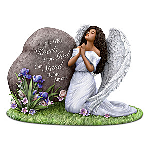 Keith Mallett Angel Figurine With Religious Message