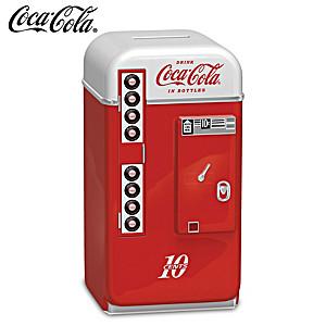 COCA-COLA 1950s-Style Vending Machine Coin Bank