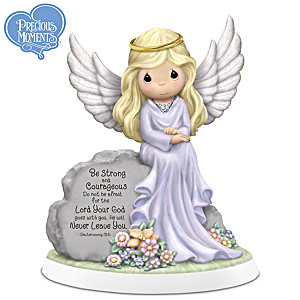 Precious Moments Porcelain Figurine With Swarovski Crystal