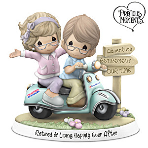Precious Moments Porcelain Retired Happy Couple Figurine