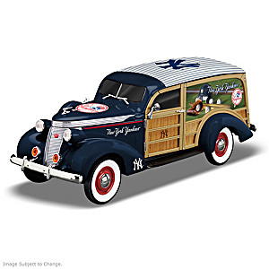 1:18-Scale New York Yankees 1937 Woody Wagon Sculpture