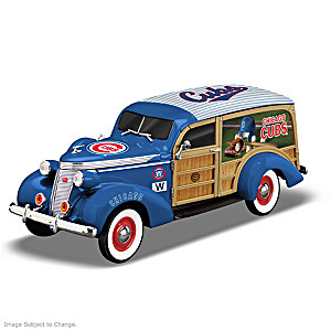 Chicago Cubs 1937 Woody Wagon Sculpture