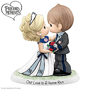 Precious Moments Yankees Porcelain Wedding Figurine