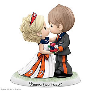 Precious Moments Broncos Love Forever Porcelain Figurine