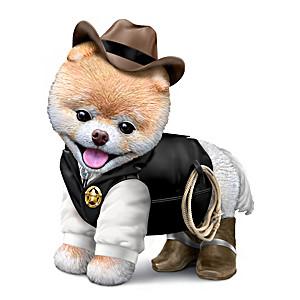 """Sher-ruff B. Paws"" Boo Pomeranian Figurine"