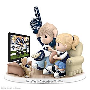 Precious Moments Los Angeles Rams Fan Porcelain Figurine