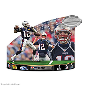 """Caught In The Action"" Tom Brady NFL Tribute Sculpture"