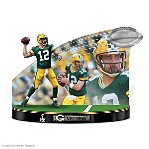 """Caught In The Action"" Aaron Rodgers NFL Tribute Sculpture"