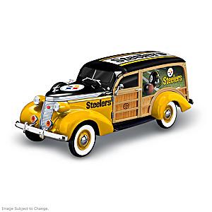 Pittsburgh Steelers 1937 Woody Wagon Sculpture
