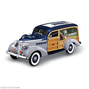 Dallas Cowboys 1937 Woody Wagon Sculpture