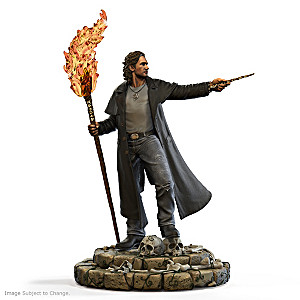 Harry Dresden Sculpture With Glow-In-The-Dark Runes