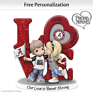 Precious Moments Crimson Tide Personalized Couple Figurine