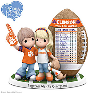 2018 Football National Champions Clemson Couple Figurine