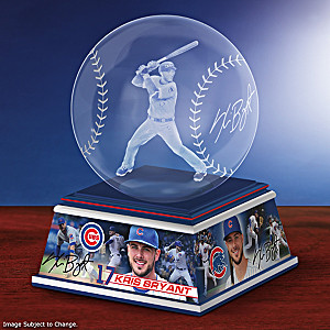 Kris Bryant Laser-Etched Glass Baseball Sculpture
