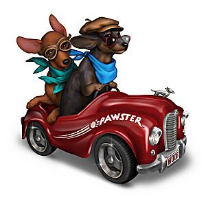Blake Jensen Dachshund Roadster Dog Figurine