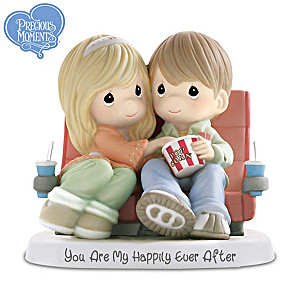 Precious Moments Porcelain Couple At The Movies Figurine
