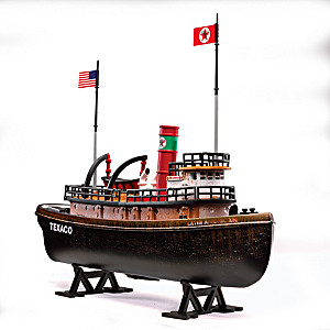 """Texaco Latin American Tugboat"" Diecast And Coin Bank"
