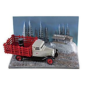 1:43-Scale Texaco 1930 Chevrolet Diecast Truck & Diorama Set