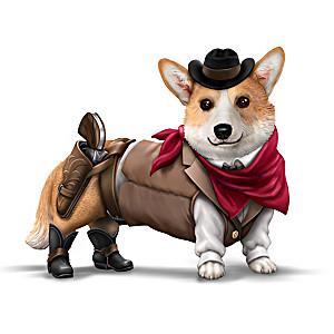 """Ruff Rider"" Cowboy Corgi Figurine"