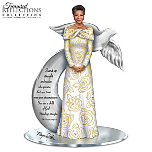 Treasured Reflections Of Dr. Maya Angelou Inspiring Figurine