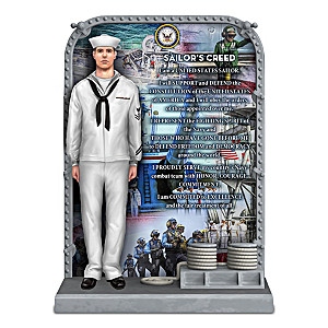 """The Sailor's Creed"" U.S. Navy Tribute Sculpture"