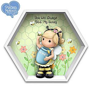"""You Will Always Bee My Honey"" Figurine In Honeycomb Display"