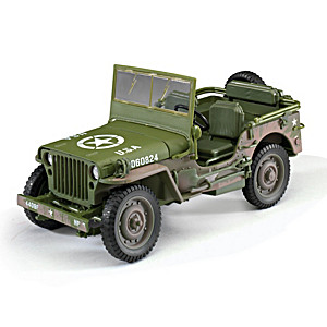 1:18-Scale 1941 Willys Diecast WWII Green Military Jeep