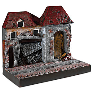 1:18-Scale WWII War Torn Building Display Sculpture