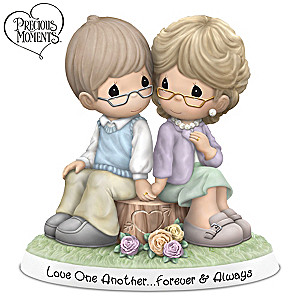 """Precious Moments """"Forever And Always"""" Porcelain Figurine"""