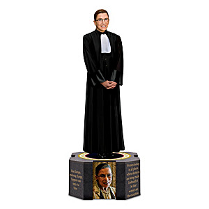 Ruth Bader Ginsburg Sculpture With Inspirational Quotes