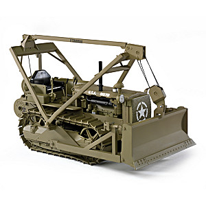 1:16-Scale Caterpillar D4 Tractor With Bulldozer & Winch