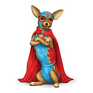 """Senor Slam"" Chihuahua Lucha Libre Figurine"