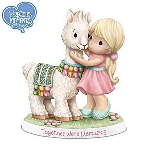 """Together We're Llamazing"" Llama & Girl Figurine"