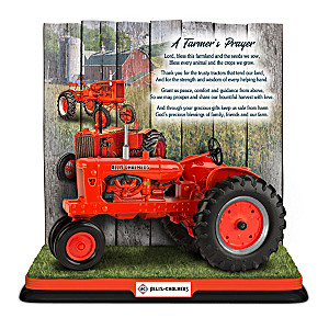 """Allis-Chalmers: A Farmer's Prayer"" Tractor Sculpture"