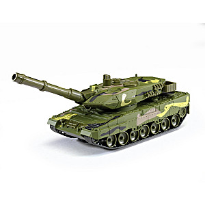 1:40-Scale Diecast Camouflage Battle Tank