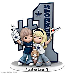 Precious Moments Romantic Dallas Football Figurine