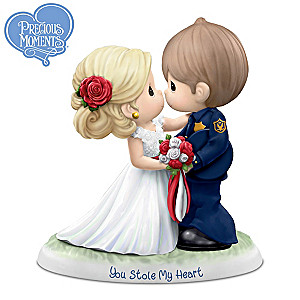 """You Stole My Heart"" Porcelain Bride & Policeman Figurine"