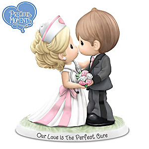 Nurse & Groom Wedding Couple Porcelain Figurine