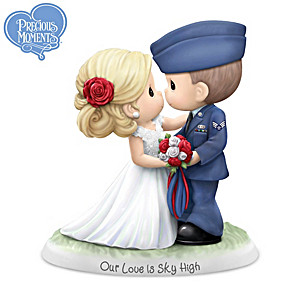 Our Love Is Sky High Bride And USAF Groom Figurine