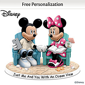 "Disney Beach Figurine Personalized With 2 Names In ""Sand"""