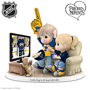 Precious Moments Blues® Fan Porcelain Figurine