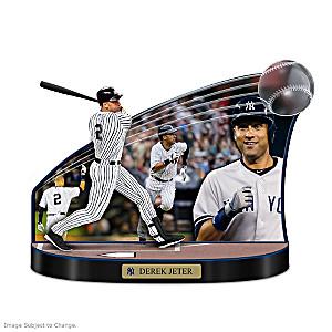 "Yankees Derek Jeter ""Caught In The Action"" Tribute Sculpture"