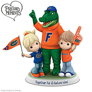 Precious Moments Porcelain Figurine With Gators Mascot