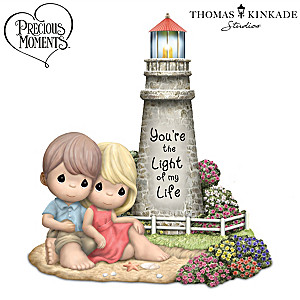 Thomas Kinkade Porcelain Precious Moments Figurine Lights Up