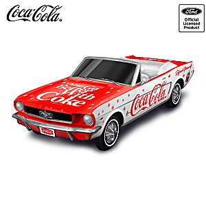 1:18-Scale 1964 Ford Mustang Sculpture With COCA-COLA Logos