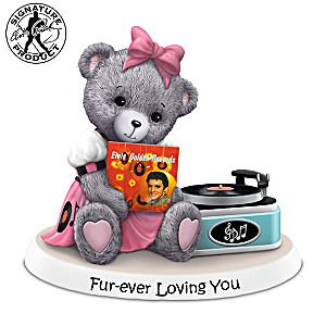 Faithful Fuzzies Teddy Bear Elvis Figurine