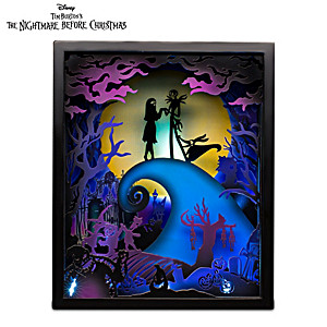The Nightmare Before Christmas Illuminated Shadowbox