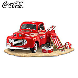 "COCA-COLA ""Refreshing Fun In The Sun"" Ford Truck Sculpture"