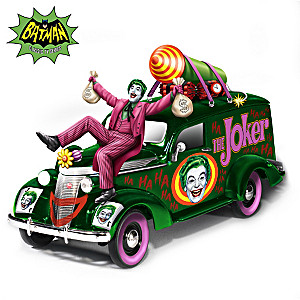 BATMAN Classic TV Series 1:18-Scale JOKER Hearse Sculpture
