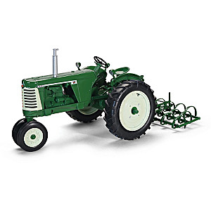 1:16-Scale Oliver 660 Diecast Tractor And Harrow Implement